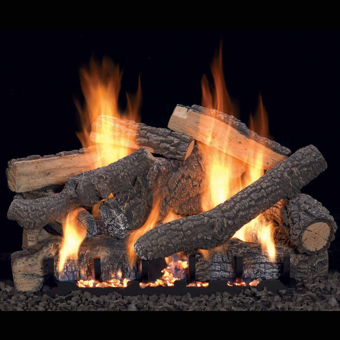 Ponderosa Vent Free Gas Log Set Optional Remote 18 24 30 Ebay