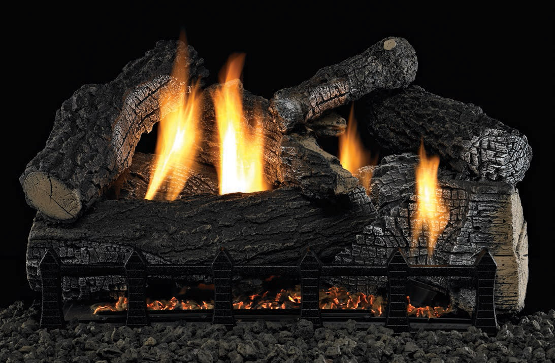Super Wildwood Vent Free Gas Log Set Optional Remote 18 24 30 Ebay