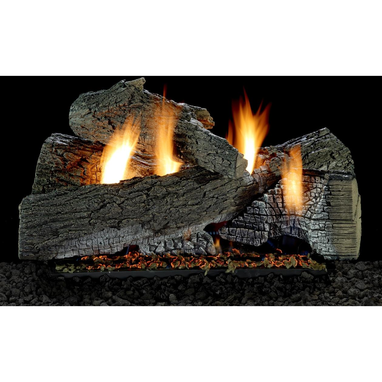 Wildwood Vent Free Gas Log Set Optional Remote 18 24 30 Ebay