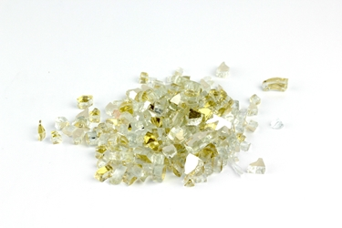 "1/4"" Golden Reflective Fireglass Flame Glass, fire glass, fireplace glass, fire pit glass"
