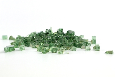 "1/4"" Green Reflective Fireglass Flame Glass, fire glass, fireplace glass, fire pit glass"