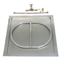 "23"" SS Drop-In Square Burner Kit stainless steel drop-in burner, stainless steel burner."