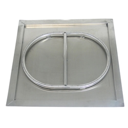 "23"" Stainless Steel Drop-In Square Burner stainless steel drop-in burner, stainless steel burner."