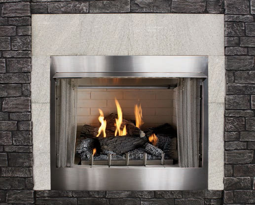 "42"" Premium Outdoor Fireplace 42"" Outdoor Traditional Premium Fireplace, Discount Hearth, Stainless Premium, Outdoor, Outdoor Fireplace, Fireplace, Outdoor Product, Loft, Empire, Carol Rose Coastal Collection"