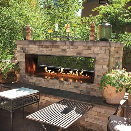 "48"" Outdoor Linear See-Thru Fireplace"