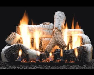 Birch Gas Log Set Vent-Free birch gas logs,vent free gas logs, vent free gas log, gas logs, gas log, white mountain