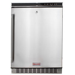 "Blaze 5.5 Outdoor Rated Stainless 24"" Refrigerator  Blaze 5.5 Outdoor Rated Stainless 24"" Refrigerator , Refrigerator, Refridgerators, Discount Hearth, Blaze Outdoor Products, Blaze, Outdoor, Outdoor Products, Tables, Double Drawers"