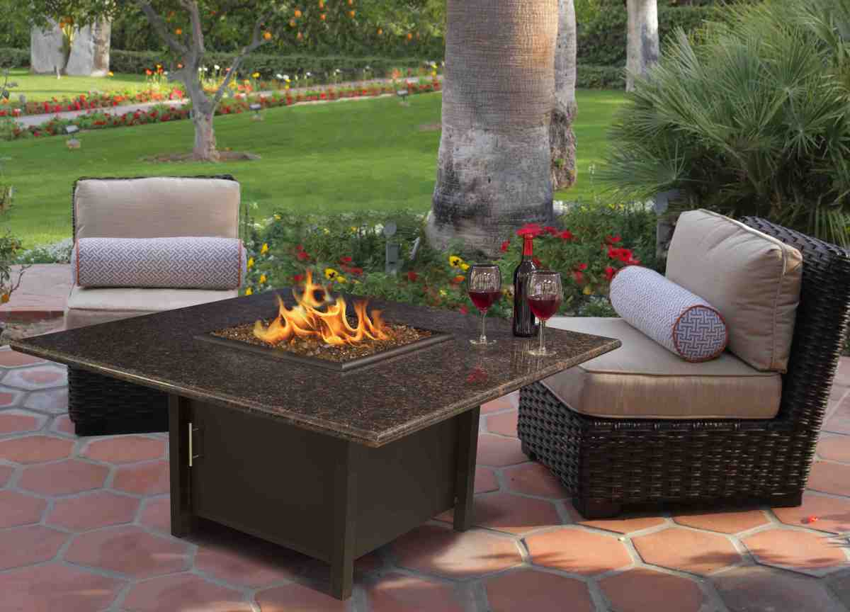 "Carmel Chat Height Fire Pit 42"" Square Carmel Fire Pit Table Chat Height, Carmel Fire Pit, Fire Pit, Fire, Carmel, Carmel Products, COC, California Outdoor Concepts"