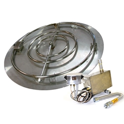Electronic Ignition Pan/Ring Burner Kit CSA complete electronic ignition, fire pit burner, fire pit burner accessories, fire pit burners.