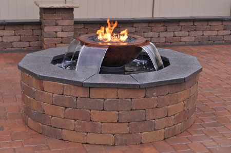 outdoor fire pit water bowl discount hearth. Black Bedroom Furniture Sets. Home Design Ideas