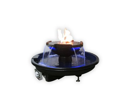 Fire On Water 4 Scupper Bowl Fire On Water 4 Scupper Bowl, H2OnFire Series, H2OnFire, HPC, Fire On Water, Black Bowl, Hearth Products Controls, Fire Pits, Outdoor Fire Pits, Discount Hearth