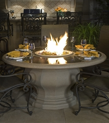 Inverted Dining Height Fire Table Inverted Dining Height Fire Table, Discount Hearth, American Fyre Designs, American Fyre Designs Fire Pits, Gas Fire Pits