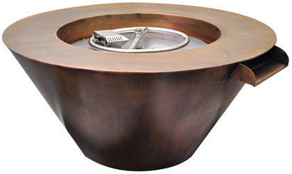 Mesa Hammered Copper Fire & Water Bowl Mesa Hammered Copper Fire & Water Bowl, HPC, Hearth Products Controls, Fire Pits, Outdoor Fire Pits, Water Bowl Fire Pits, Tempe Series, Tempe, Discount Hearth