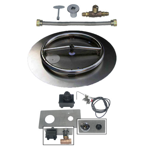 Pan/Ring Burner w/ Spark Ignition Kit - HD-BK-SSPR-SPK-18NG