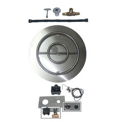 Pan/Ring Burner w/ Spark Ignition Kit Flame Ring- Round