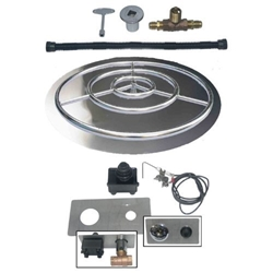 Pan/Ring Burner with Spark Ignition Kit flame ring, spark ignition, dreffco, kit