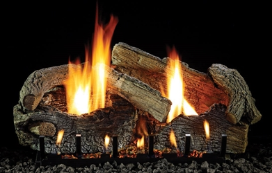 Stacked Age Oak Log Set Vent-Free stacked aged oak gas logs,vent free gas logs, vent free gas log, gas logs, gas log, white mountain