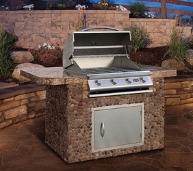 BBQ Island With Grill and Storage