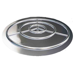 Stainless Steel Burner Pan with Ring burner pan, stainless steel burner pan, burner ring.