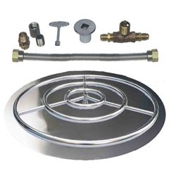 Stainless Steel Burner Pan with Ring Kits for LP burner pan, stainless steel burner pan.