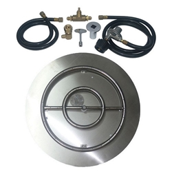 Stainless Steel Burner Pan with Ring Kits for 20 lb Portable LP Tanks burner pan, stainless steel burner pan.