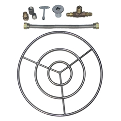 "Stainless Steel Ring Burner Kits for LP Non-Whistle flex line and a <meta name=""keywords"" content=""stainless steel ring burner, ring burner."