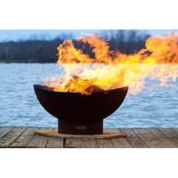 Scallop outdoor fire pit, outdoor wood fire pit, outdoor firepit, outdoor gas firepit.