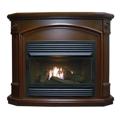 Dual Fuel Gas Fireplace- Cherry
