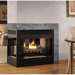 Peninsula See-Thru Fireplace