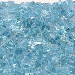 "1/4"" Caribbean Blue Fireglass caribbean blue fireglass, fireplace glass, fire pit, firepits, fire pit glass, fireplace, fireglass, fire glass pit, fireplaces glass, fire place glass"