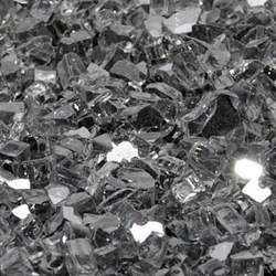 "1/4"" Gunmetal Gray Reflective Fireglass Flame Glass, fire glass, fireplace glass, fire pit glass"