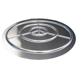 Ring/Pan Burner- Stainless Steel Flame Ring- Round