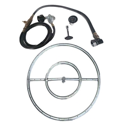 Portable LP Tank- SS Burner Ring Kits burner ring kit, burner ring, fire pit, fire pits, fire pit burners