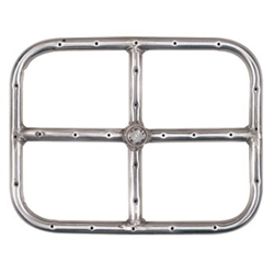 Rectangle Burner- Stainless Steel burner flame ring, burner ring, fire pit burners, fire pits, fire pit, fire pit accessories