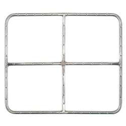 Square Burner- Stainless Steel fire square, fire pit burner, fire pit burner accessories, fire pit burners.