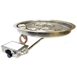 "37"" Spark Ignition Drop-In Bowl Burner CSA spark ignitor burner pan, fire pit burner, fire pit burner accessories, fire pit burners."