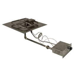 Spark Ignition Square Pan spark ignitor burner pan, fire pit burner, fire pit burner accessories, fire pit burners.
