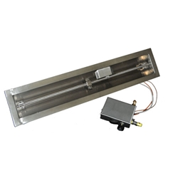 Spark Ignition Drop-In Trough spark ignitor burner pan, fire pit burner, fire pit burner accessories, fire pit burners.