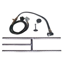 Portable LP Tank Kit- Stainless Steel H Burner stainless steel fireplace burner, fireplace burner, fireplace burners.