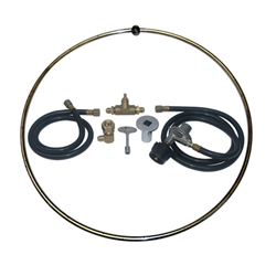 Open Ring Portable LP Tank- SS Burner Ring Kits burner ring kit, burner ring, fire pit, fire pits, fire pit burners