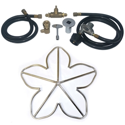 Penta Burner PLP Kit- Stainless Steel stainless steel fireplace burner, fireplace burner, fireplace burners.