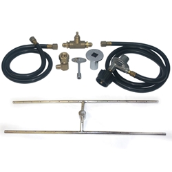 H Center Stainless Steel Burner PLP Kit stainless steel fireplace burner, fireplace burner, fireplace burners.