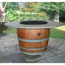Tuscan Wine Fire Pit Table