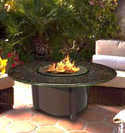 "Carmel Coffee Table Fire Pit 54"" x 28"" Carmel Fire Pit Table Chat Height, Carmel Fire Pit, Fire Pit, Fire, Carmel, Carmel Products, COC, California Outdoor Concepts, Rectangular, Rectangle"