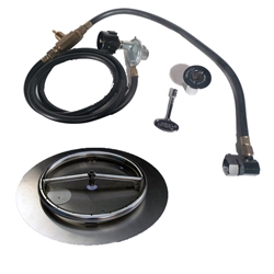 18 inch Stainless Steel Pan-Ring Kit LP for Fire Pit / Portable Tank Connection