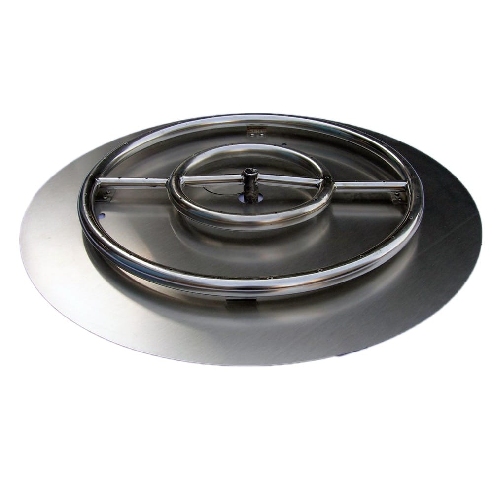 22 inch Stainless Steel Pan-Ring Kit LP for Fire Pit / Portable Tank Connection - DR-BK-SSPR-24PLP