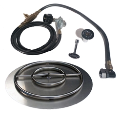 22 inch Stainless Steel Pan-Ring Kit NG for Fire Pit / Portable Tank Connection