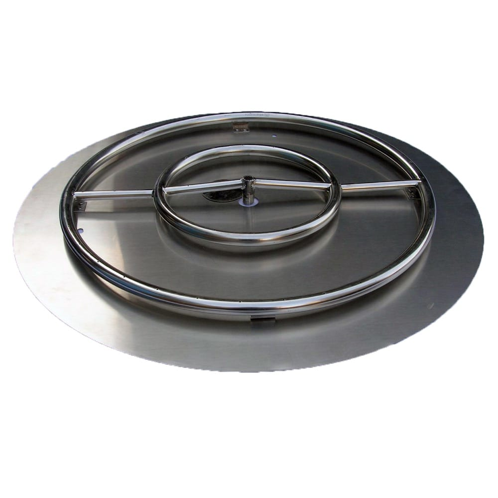 22 inch Stainless Steel Pan-Ring Kit NG for Fire Pit / Portable Tank Connection - DR-BK-SSPR-24PNG