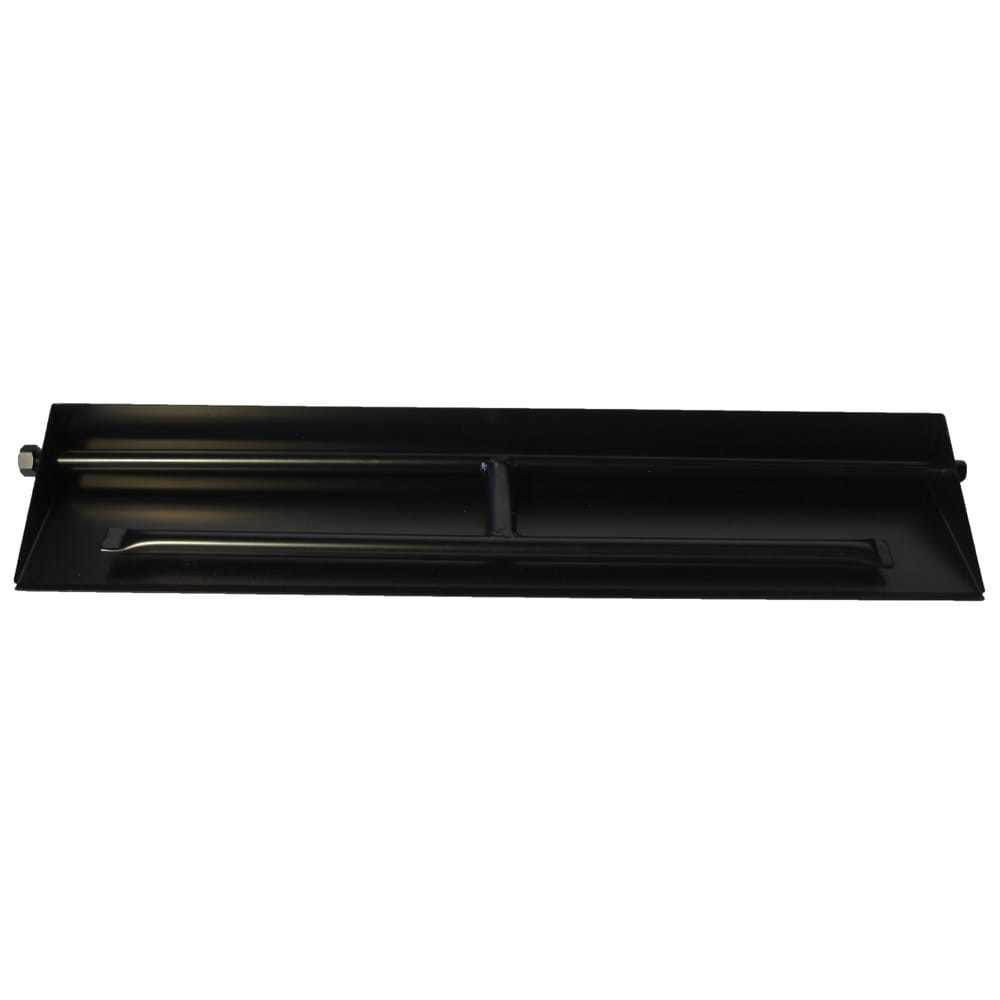 32 inch Powder Coated Dual Burner Pan - DR-B-PCDP-36