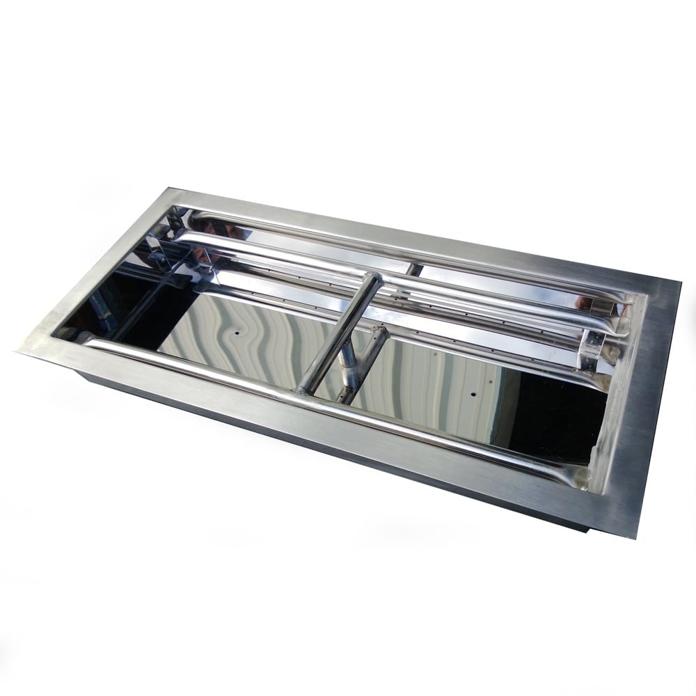 24 inch Stainless Steel Drop-In Rectangular Burner - DR-B-DIH-24